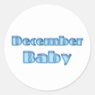 December baby runt klistermärke