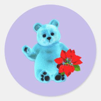 December björn runt klistermärke