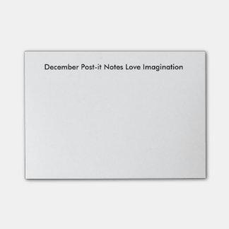 December noterar Posta-det kärlekfantasi Post-it Lappar