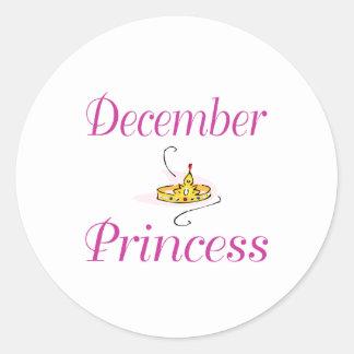 December Princess Runt Klistermärke