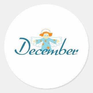 December Runt Klistermärke