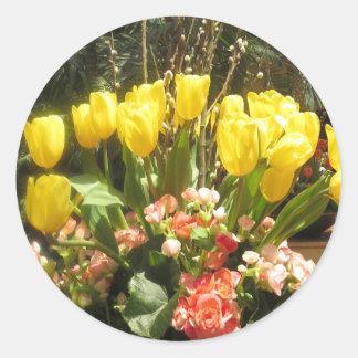 Deco blommor: Ungar firande, födelsedag, picknick Runt Klistermärke