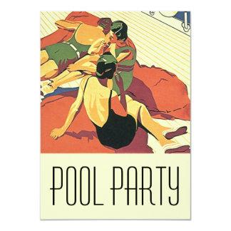 Deco för coola för party för 11,4 x 15,9 cm inbjudningskort