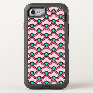 Deco kinesiska kammusslor, korallrosor och turkos OtterBox defender iPhone 7 skal