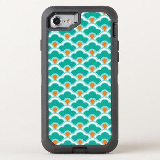 Deco kinesiska kammusslor, kricka, Aqua och korall OtterBox Defender iPhone 7 Skal