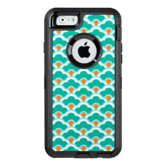 Deco kinesiska kammusslor, kricka, Aqua och korall OtterBox Defender iPhone Skal