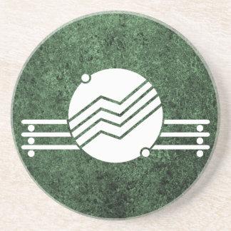 Deco medaljong över grön granit underlägg
