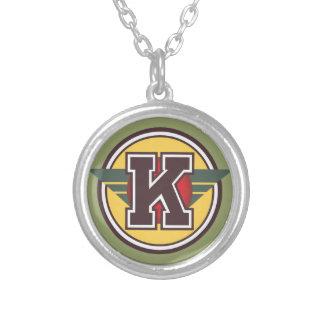 """Deco Monogram """"K """", Silverpläterat Halsband"""