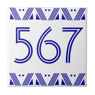 Deco numrerar belägger med tegel kakelplatta