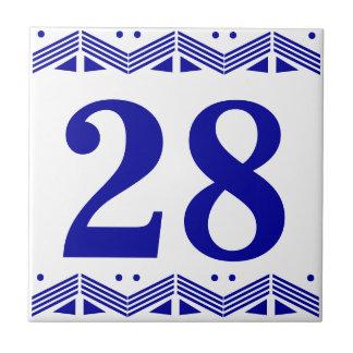 Deco numrerar belägger med tegel liten kakelplatta