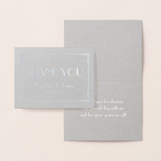 Deco omkullkastar verkligt silver kort för grå