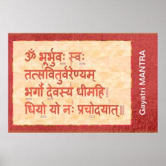 Dedikation till GAYATRI-mantraen Poster