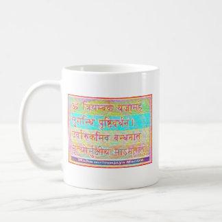 Dedikation till MAHA--MRITUNJAYmantraen Kaffemugg