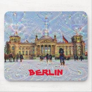 DeepDream städer, Reichstag byggnad, Berlin Musmatta