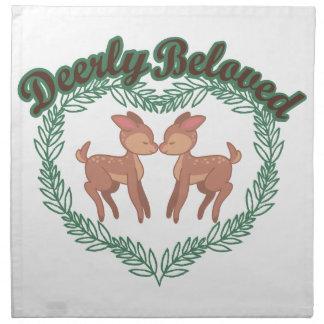 Deerly älskling tygservett