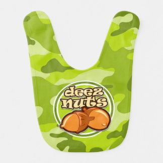 Deez nöt; ljust - grön camo, kamouflage hakklapp