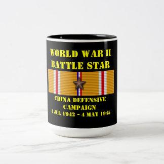 Defensiv kampanj för china Två-Tonad mugg