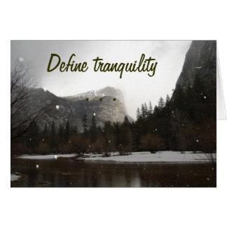 Definiera Tranquility Hälsningskort