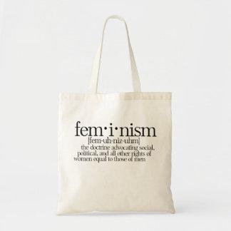Definierad feminism tote bags