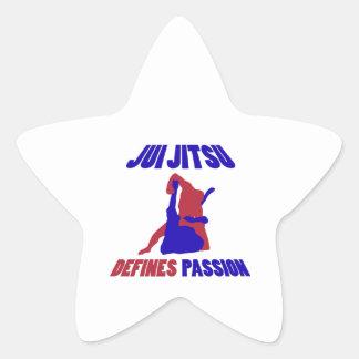 definierar brasiliansk jiujitsu stjärnformat klistermärke