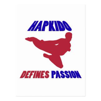 definierar Hapkido Vykort