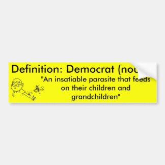 Definition av en demokrat bildekal