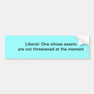 Definition av en liberal bildekal