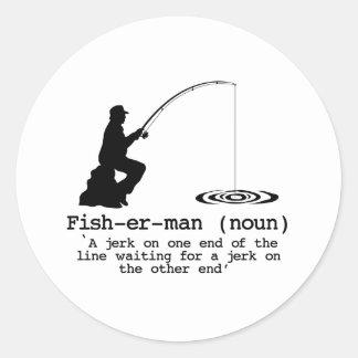 Definition av fiskaren runt klistermärke
