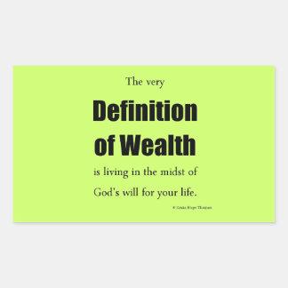 definition av rikedom rektangulärt klistermärke