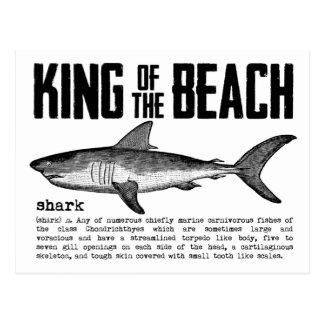 Definition för haj för vintagestrandkung vykort