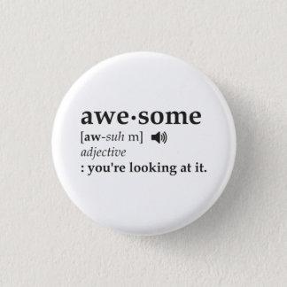 Definitionen av fantastisk tittar du det mini knapp rund 3.2 cm