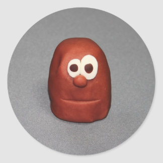Deg för potatishuvudlek runt klistermärke