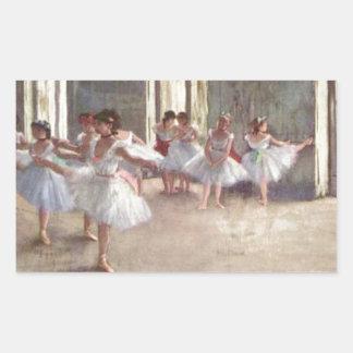 Degas balettdansörer rektangulärt klistermärke