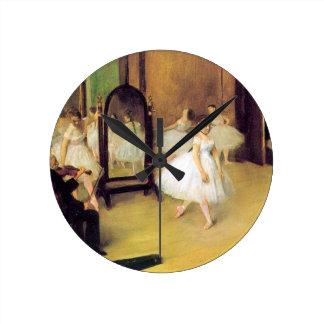 Degas balettdansörer rund klocka