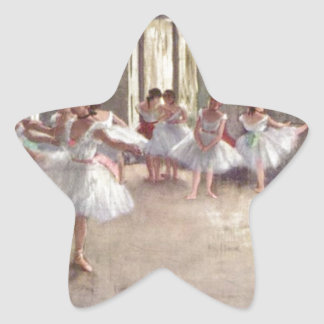 Degas balettdansörer stjärnformat klistermärke