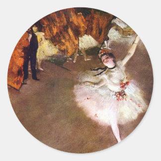 Degas: Ballerina Runt Klistermärke