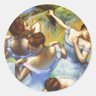 Degas blåttdansareklistermärkear runt klistermärke