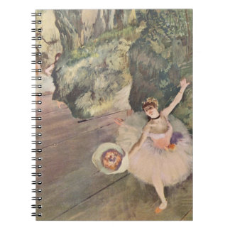 Degas dansare med en bukett av anteckningsbok med spiral