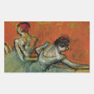 Degas dansare på Barreklistermärken Rektangulärt Klistermärke