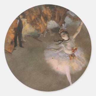 Degas stjärnan runt klistermärke