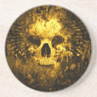 Degrated skalle glasunderlägg