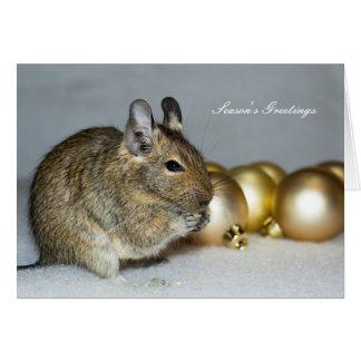 Degu & Baublessäsong jul för hälsningar Hälsningskort