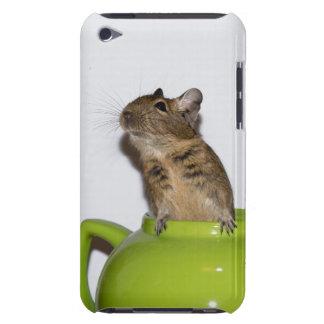 Degu i en grön tekannaipod touch case iPod touch Case-Mate skydd