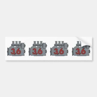 dekal för 3,6 motor bildekal