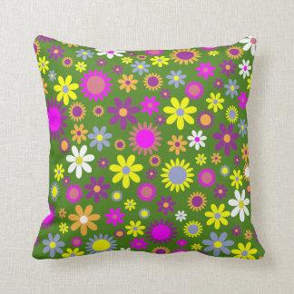 Dekor för hem för dekorativ kudde för gröntblommor