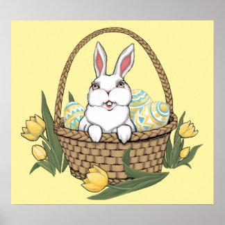 Dekor för party för påsk för påskhareaffisch