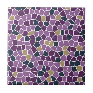 Dekor och tillbehör för purpurfärgade djupa floror kakelplatta