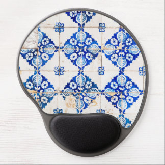 dekoration gammala portugal för mosaiklisbon blått gel musmatta