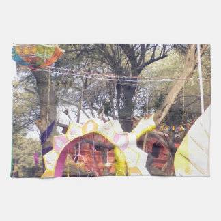 Dekorationer för träd för party för Suraj Kund Kökshandduk