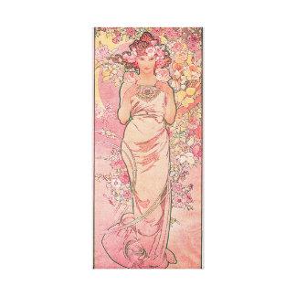 Dekorativ art nouveau för elegantro canvastryck